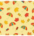autumn school seamless pattern vector image