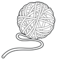 Ball of yarn outline