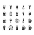beer mug black silhouette icons set