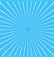 blue rays pop art background retro comic style vector image