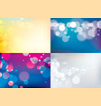 bokeh abstract blurry lights backgrounds set vector image