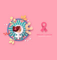 breast cancer awareness month campaign banner vector image vector image