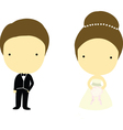 Bride and Groom Cartoons vector image