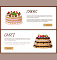 cakes variety page online shop vector image