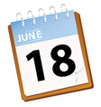 calendar june vector image