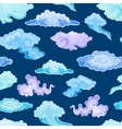 Cartoon Color Clouds Seamless Pattern Background vector image vector image