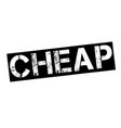 cheap stamp on white vector image vector image