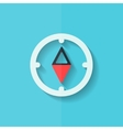 Compass web icon Flat design vector image vector image
