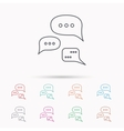 Conversation icon Chat speech bubbles sign vector image vector image