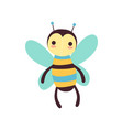cute funny bee soft plush toy stuffed cartoon vector image
