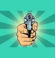 dollar currency money finance revolver in hand vector image