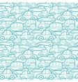 Doodle cars seamless pattern background vector image vector image