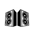 double speaker boom back to back symbol vector image vector image