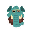 elephant wearing sunglasses hipster animal vector image vector image