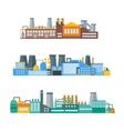 Factory Flat Set vector image vector image