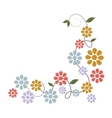 Flower floral colorful icon vector image