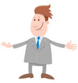 funny man or businessman cartoon comic character vector image