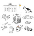 germany symbols set hand drawn vector image
