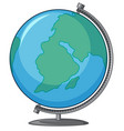 globe earth isolated vector image