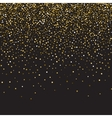 Gold glitter shine texture on a black background vector image vector image