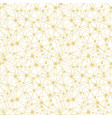 golden yellow stars network seamless pattern vector image vector image