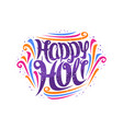 greeting card for holi festival vector image vector image