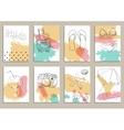 greeting card set cute retro sea vector image