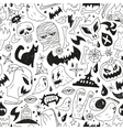 Halloween monsters - seamless background vector image vector image