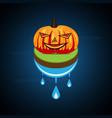 halloween pumpkin on float land vector image vector image