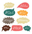 hand written hash tags vector image vector image