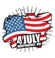 Independence Day of America USA flag grunge style vector image vector image