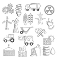 Industry and ecology objects sketches vector image vector image