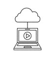 laptop cloud computing player online internet vector image vector image