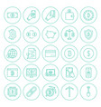 line cryptocurrency circle icons vector image vector image