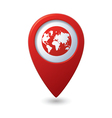 Map pointer with earth globe icon vector image vector image