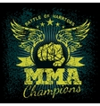 MMA labels on grunge background vector image vector image