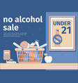 no alcohol sale background vector image vector image