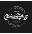 Oktoberfest beer festival typography emblem vector image vector image