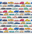 pattern with hand drawn doodle cars background vector image vector image