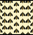 pattern with the image of bees with a mirror vector image