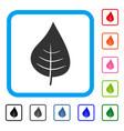 plant leaf framed icon vector image