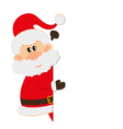 Postcard Santa Claus with space for text vector image