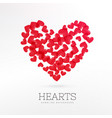 red hearts casino game background vector image vector image