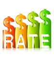 Rising Dollar Rate Concept vector image vector image
