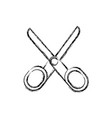 scissors tool icon vector image