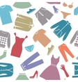 Seamless background with clothes vector image vector image