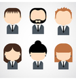 Set of businessman and businesswoman vector image vector image