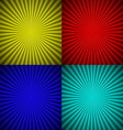Set of colourful radial rays abstract background vector image