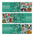 set of horizontal banners about holland vector image vector image