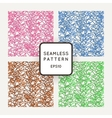 Set of seamless patterns of colored contour vector image vector image